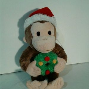 Other - Merry christmas curious George plush